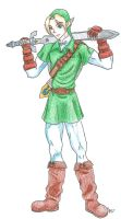 Ocarina of Time Link by DarthJader11