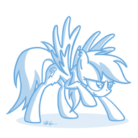 Rainbow Dash sketch by ViktorNewman