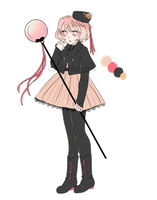 Red and black fullbody adopt CLOSED by carcaradopts