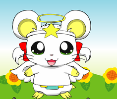 Mika The Baby Angel Hamster by deadf1