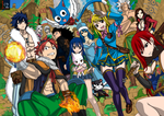 Fairy Tail Wallpaper Colored Lines by locoarts92