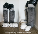 Wolf Sockpaws by FuzzButtFursuits