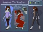 Sarviana the madame (Reference sheet) by RenateThePony