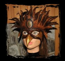 Griffin Leather Mask 1 by Lagueuse