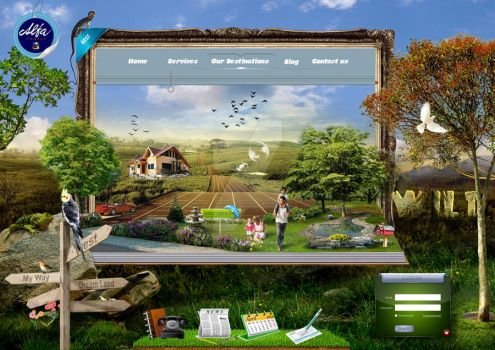 2011 creative web design by Ol by olicica2002