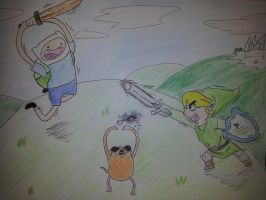 A Link to Adventure time. by SimpleTheSaviour