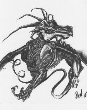 Another charcoal monster by TheRedrin