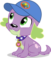 Mlp EqG 4 Spike (happy) vector by luckreza8