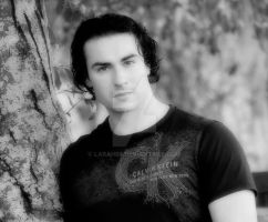 Joey Black and White Effect by Larah88