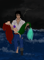What if Eric had saved Ariel from the explosion by marionlalala