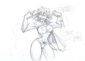 POWER GIRL by MightyMoose