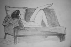 COLLEGE LIFE DRAWING 1 by phymns