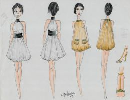 Two Folded in Dresses by artfashionmusic