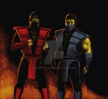 Ermac and Hydro by PitBOTTOM