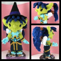 Custom Crochet - Tizzlebit by CraftyTibbles