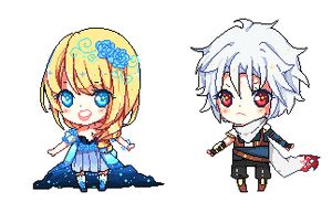 Pixel chibis batch .o3 by Haru-Tchi
