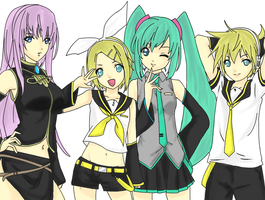 VOCALOIDS by MuffiLazyCat