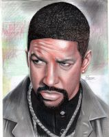Denzel Washington by Spomo-U
