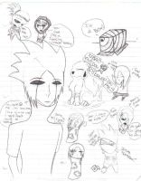 naruto doodles by SicAnne