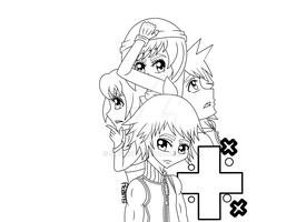 KH:3D Fanfic cover outline by SwirleePJ
