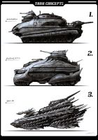 Tank Concept Paintings by misi006