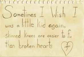 Skinned Knees vs Broken Hearts by MuseofMemory