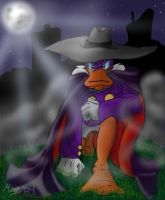 Darkwing and the Moon by megs83