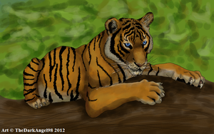 Tiger Cub by LupusAvani