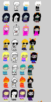 Adventure stuck full sprite sheet by RedDragonFairy