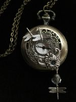 Dragonfly Pocketwatch by Erdbeerprinz