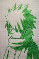 Tegami Art No.9 .:Kid Kakashi:. by SakakiTheMastermind