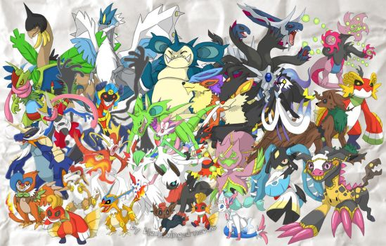 PokeFusionProject2017_Mai Compilation by blackwinged-neotu