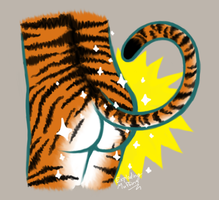 Super Tiger Butt by exploding-muffins