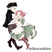 Chibitalia and HRE by MiknCookies