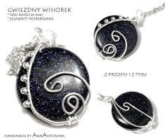 Blue-goldstone pendant 2 by AnnAntonina