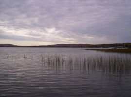 Grey Skies Over Crooked Lake by asukouenn