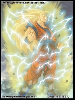 SSJ3Goku by GreenChen