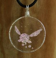 LoZ Pink Fairy Fused Glass by FusedElegance