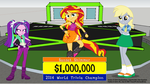 Sunset Shimmer Wins on Duel by j4lambert