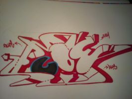 Flow Wild Style Attempt by SUREGRAFFITI