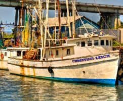 Fishing Boat at Tybee Island by Bartonbo