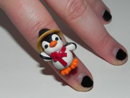 Penguin Ring Custom Order by Secretvixen