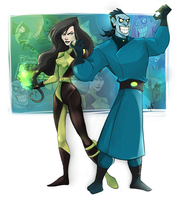 Kim Possible: Dr. Drakken and Shego by WinstonOffbeat1