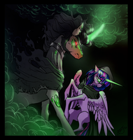 Lich VS Wraith - King Sombra and Twilight Sparkle by ViralAcorn