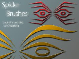 Spider Brushes by lost--in--thought