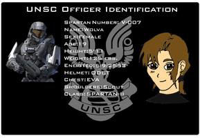 Wolva UNSC Identification Card by EX388