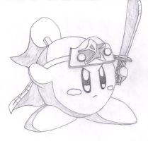 Awesome Ninja Kirby Drawing by MeowMaster789
