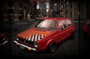 vw Golf mk1 by evisdesign