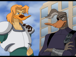 Style Reboot - Mighty Ducks - Nosedive and Duke by WyldeElyn