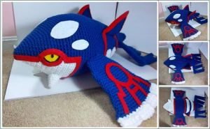 Sold out! Giant Kyogre Plush by TheEmeraldStitch